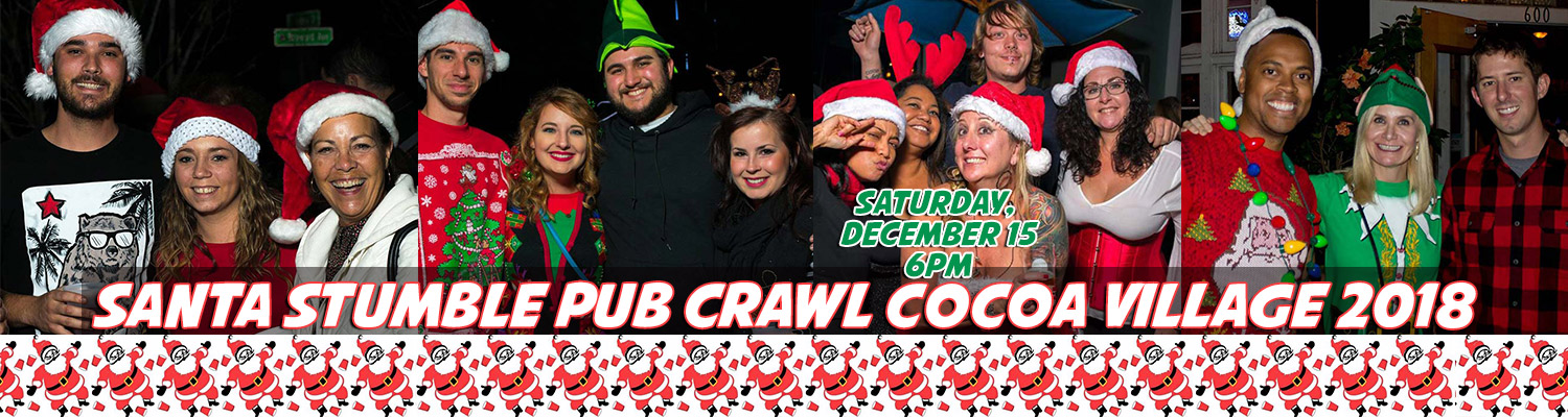 Santa Stumble Pub Crawl Cocoa Village 2018