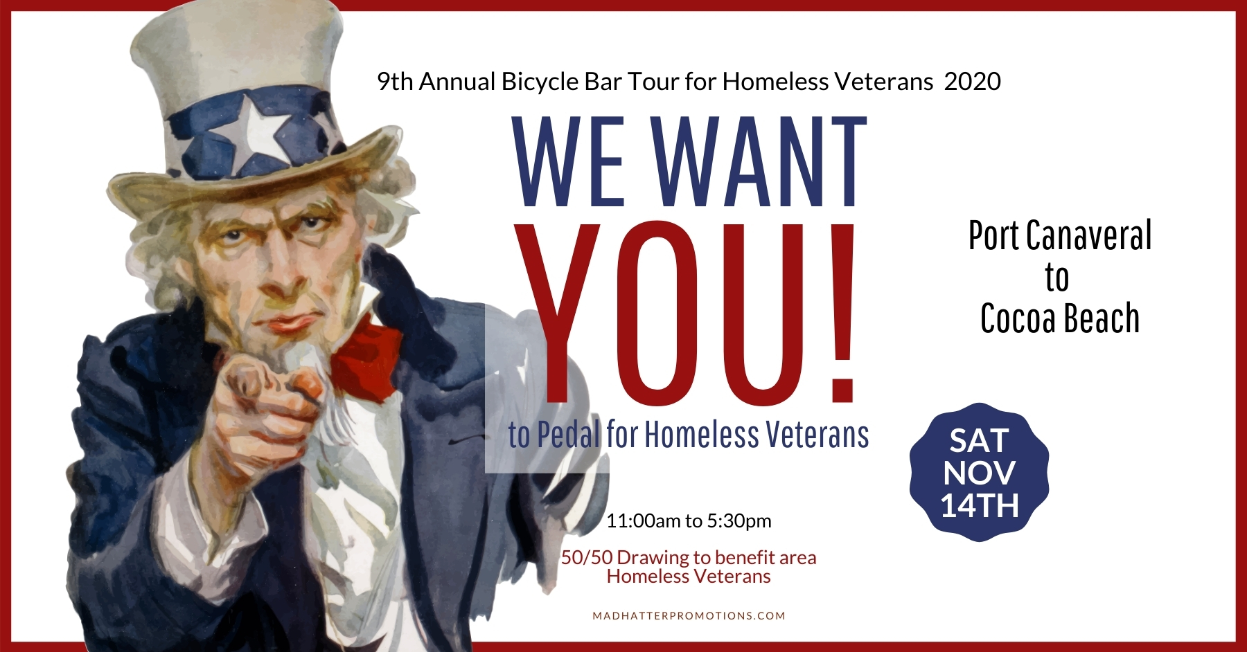 2020 Bicycle Bar Tour for Homeless Veterans