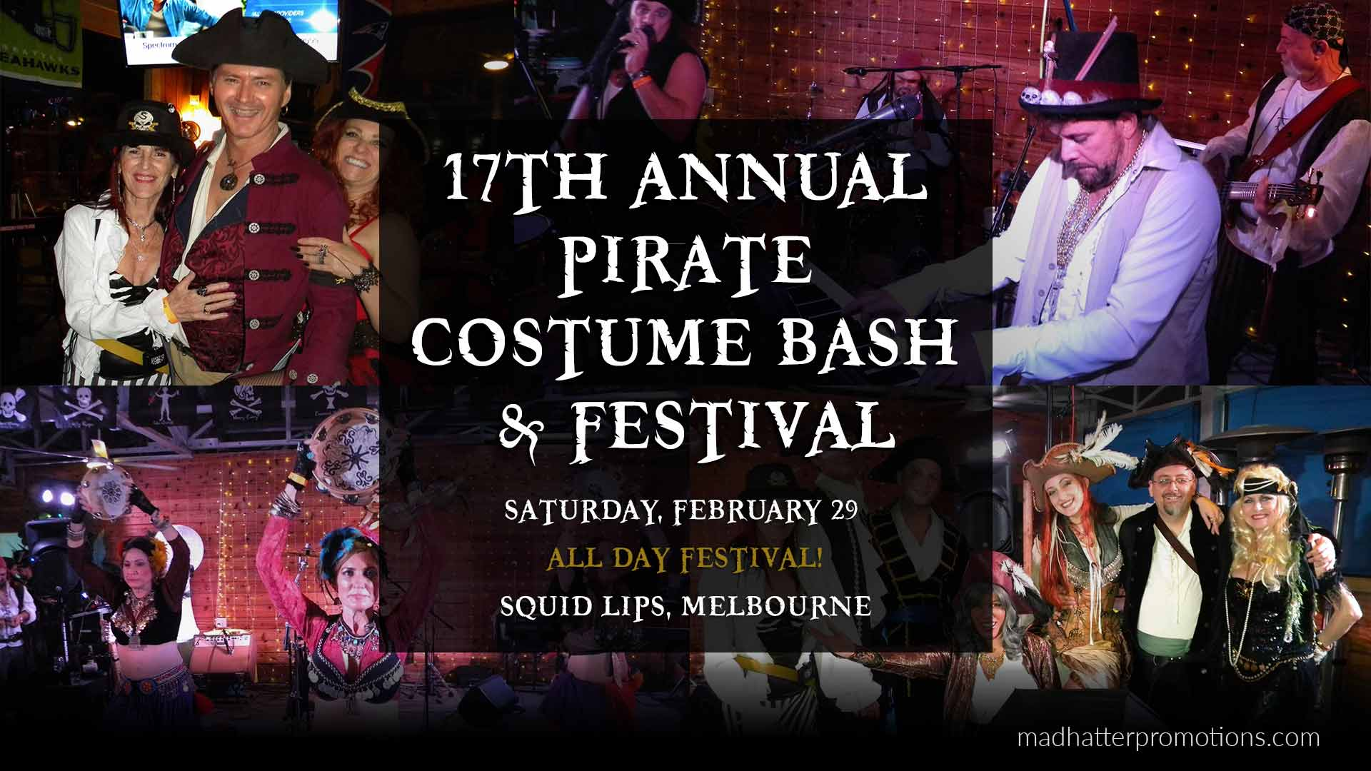 17th Annual Pirate Costume Bash and Festival Squid Lips Melbourne