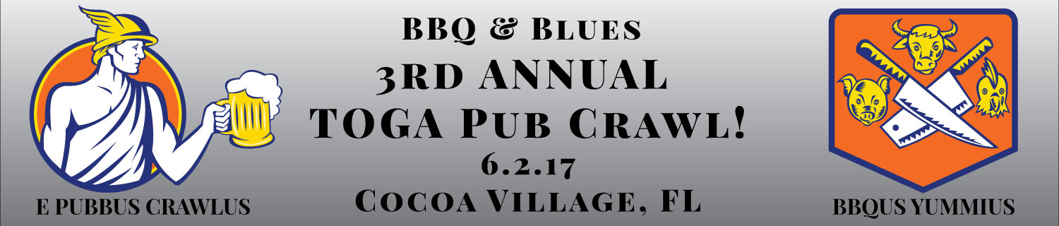 2017 Cocoa Village BBQ & Blues 3rd TOGA Pub Crawl